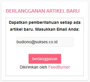 berlangganan artikel melalui email