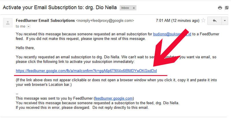 konfirmasi berlangganan melalui email